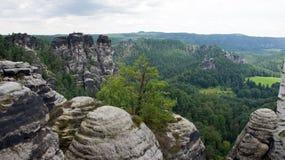 Bastei rocks in Rathen, Germany Stock Images