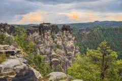 Bastei Rocks Stock Photo