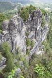Bastei rocks Royalty Free Stock Photo