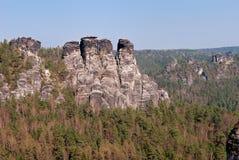 The Bastei rocks Royalty Free Stock Photo