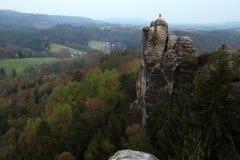 Bastei, Saxon Швейцария, Германия Стоковые Фотографии RF