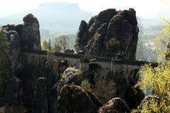 Bastei, Saxon Швейцария, Германия Стоковая Фотография RF