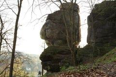 Bastei, Saxon Suisse, Allemagne Image stock