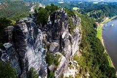 Bastei in Saxon Switzerland Royalty Free Stock Photo