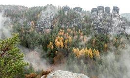 Bastei at Saxon Switzerland, Germany stock photos