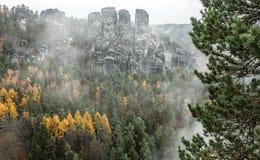 Bastei at Saxon Switzerland, Germany stock photography