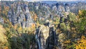 Bastei in Saxon Switzerland Stock Image