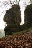 Bastei, Suíça saxão, Alemanha Fotos de Stock Royalty Free