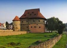 Bastião bruto em Bardejov - Eslováquia fotografia de stock