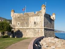 Bastião da fortaleza em Menton, França Fotografia de Stock Royalty Free