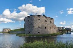 Bastião do castelo de Kalmar Fotos de Stock Royalty Free