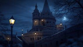Bastião do ` s do pescador do conto de fadas em Budapest, Hungria Imagens de Stock