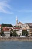 Bastião e construções do pescador no beira-rio de Danúbio Fotos de Stock Royalty Free