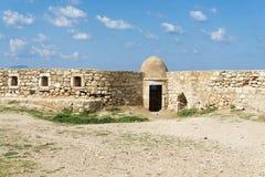Bastión de la ciudadela Fortezza en la ciudad de Rethymno, Creta, Grecia imágenes de archivo libres de regalías