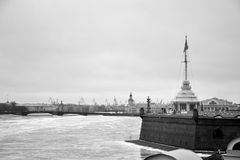 Bastión de la fortaleza de Peter y de Paul Imagenes de archivo