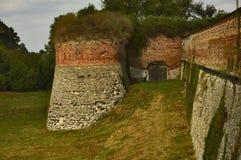 Bastión del castillo en la ciudad de Dubno, región de Rivne, Ucrania fotos de archivo