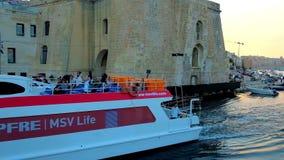 Bastión escarpado en Senglea, Malta metrajes