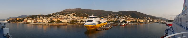 Bastia, Корсика, Corse, крышка Corse, верхнее Corse, Франция, Европа, остров Стоковое Изображение RF