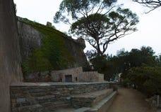 Bastia, Corse, Cap Corse, horizon, murs, murs environnants, antiques, architecture, détails, la vie de ville, vie quotidienne Photographie stock