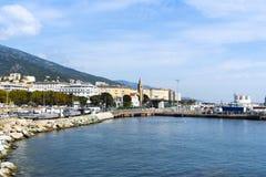 Bastia, in Corsica, Frankrijk royalty-vrije stock foto's