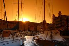 bastia corsica hamn Royaltyfri Fotografi