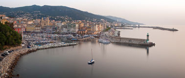 Bastia, Corsica panoramic view Royalty Free Stock Images