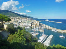 Bastia, Corsica, view down to the old port Stock Photography