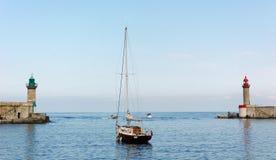 Bastia harbor Stock Photo