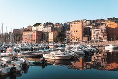 Bastia Port In Corsica, France Stock Images