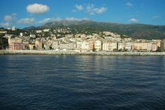 Bastia, view of the port and the town. Corsica Stock Photo