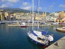 Bastia-Yachthafen stockfotografie