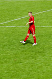 Bastian Schweinstei from Bayern Munich soccer club. Bastian Schweinsteiger from Bayern Munich on the field Royalty Free Stock Photos