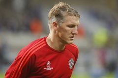 Bastian Schweinsteiger Champion League FC Bruges - Manchester United Royalty Free Stock Images