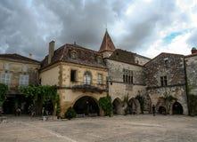 Bastide Monpazier Zdjęcia Stock