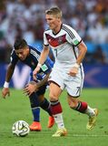Bastien Schweinsteiger and Marcos Rojo Coupe du monde 2014 Royalty Free Stock Photo