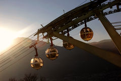 Bastille cable car in France Royalty Free Stock Photography