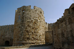 Bastille in City of Rhodes Stock Photos