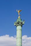 The Bastille column. The column of the Bastille square - Paris, France stock photography