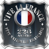 Bastille Day Badge Stock Images