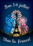 Bastille day fireworks Royalty Free Stock Photo