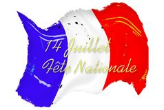 Bastille Day Grunge French Flag Royalty Free Stock Photo