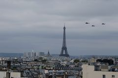 Bastille Day Helicopters Royalty Free Stock Photography