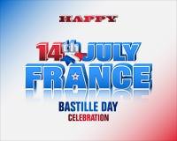 Bastille dzień, święto narodowe Francja Obrazy Stock