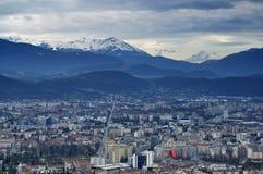 Bastille Grenoble de La Photographie stock libre de droits