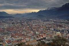 Bastille Grenoble de La Photos stock