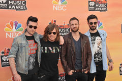 Bastille. LOS ANGELES, CA - MAY 1, 2014: Bastille at the 2014 iHeartRadio Music Awards at the Shrine Auditorium, Los Angeles stock images