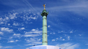 Bastille sculpture. On a blue sky Stock Photos
