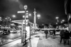 Bastille square, Paris. Black and white photo Stock Images
