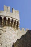 Bastion av den medeltida slotten av riddarna Arkivbilder