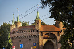 The Bastion or Barbican in the city of Krakow in Poland Royalty Free Stock Photos